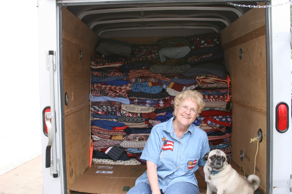 200 quilts in the Van, more to pack…