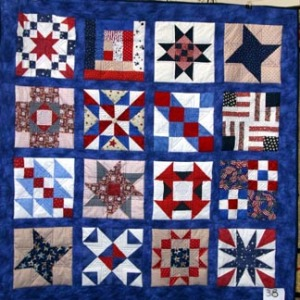 One of the many handmade Quilt of Valor quilts