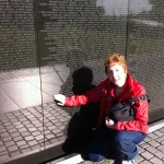 Flo at the Vietnam Wall