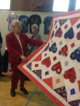 Mildred's quilt. Even though it's upside down, look at her expression