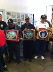 Veterans receiving QOH at Turlock Quilt Show