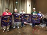 Trumpets with Quilt Banners