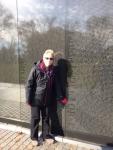 Flo at Vietnam Wall