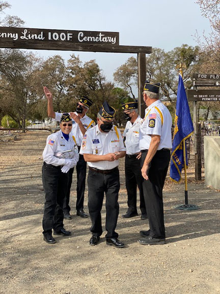 Post 102 Honor Guard Checking the Time
